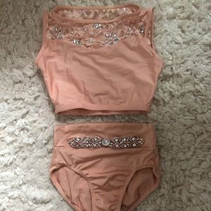 Other - Rhinestoned 2 piece dance set